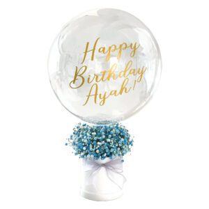 Baby's Breath Flower Box with Bubble Balloon